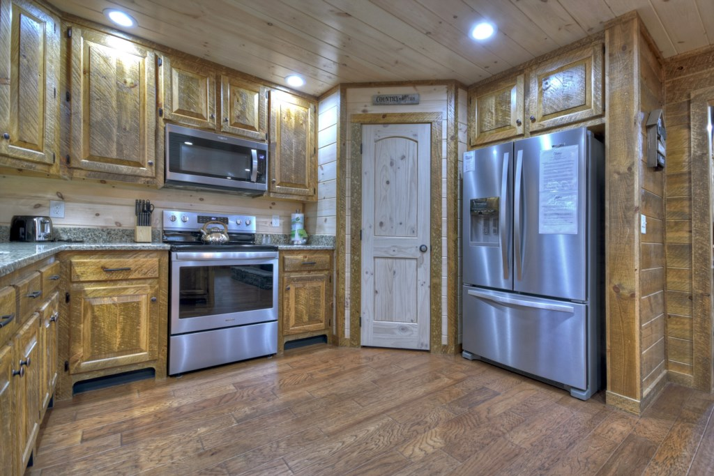 Stunning kitchen with stainless appliances