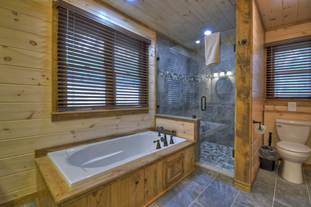 After a long day sightseeing find time to relax in your soaker tub