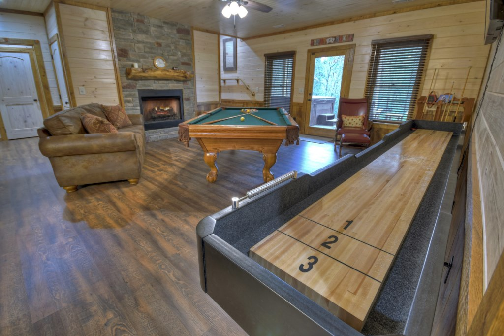 Let your competitiveness shine in this large Game Room