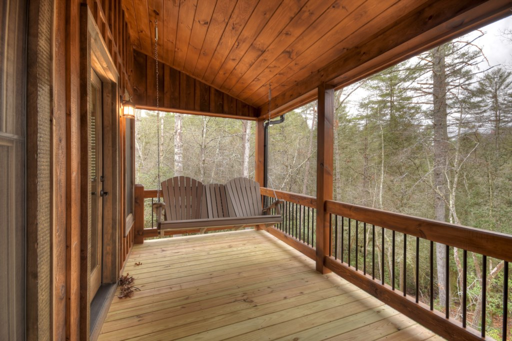 Relax and unwind on the porch swing