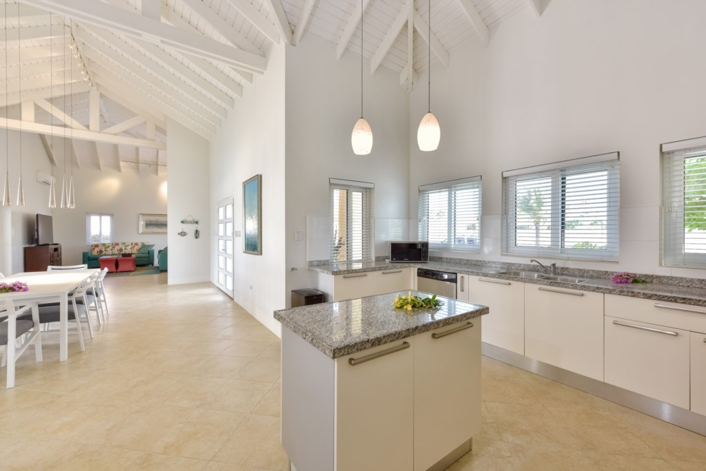 Villa Sunset features an immense kitchen and living area