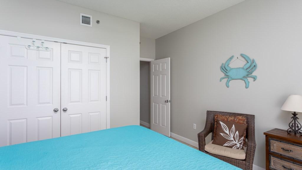 Third bedroom with queen bed