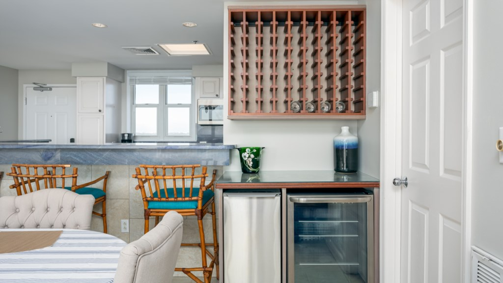 Small ice machine and wine cooler