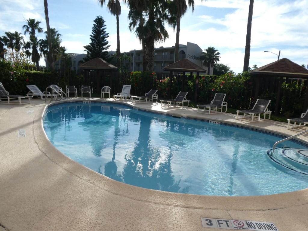 Large Furnished Pool Deck Area