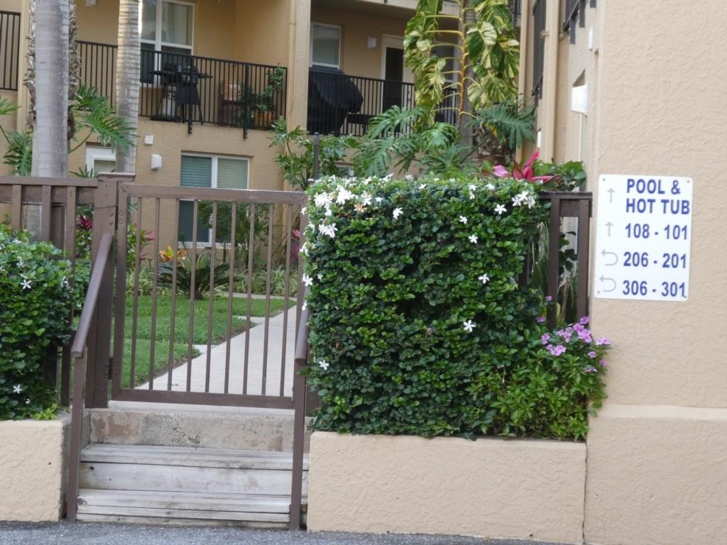 Condo Entrance from COurtyard
