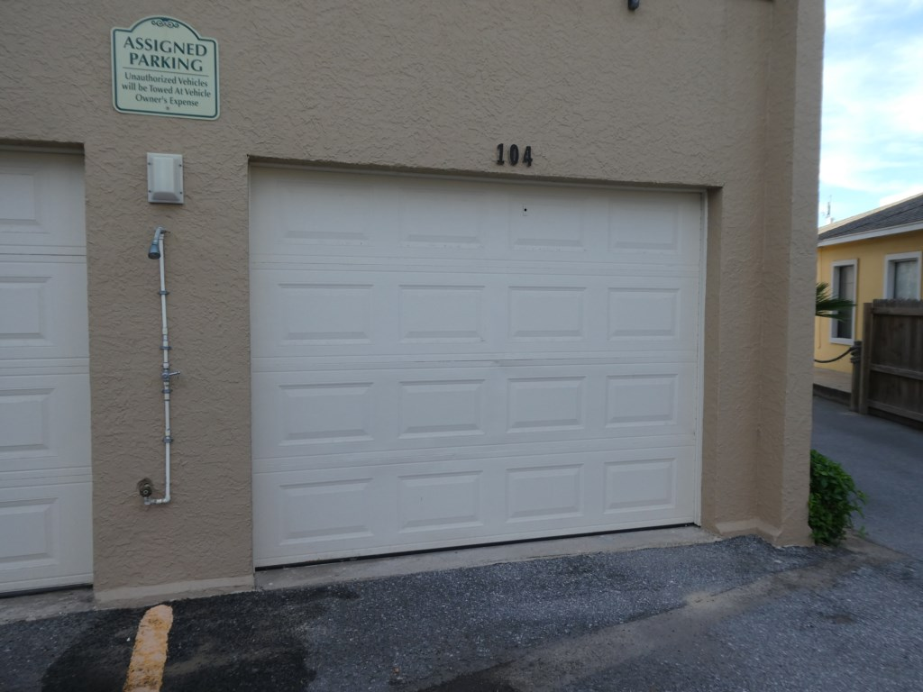Parking in front of garage