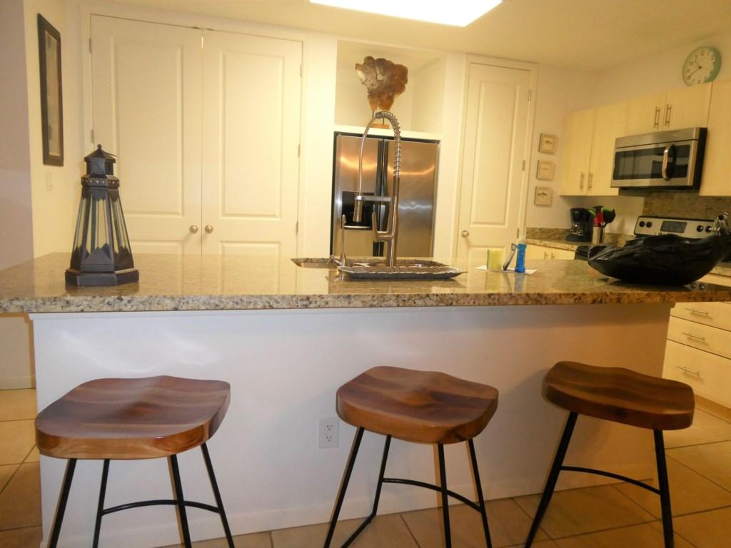 Sitting around the kitchen