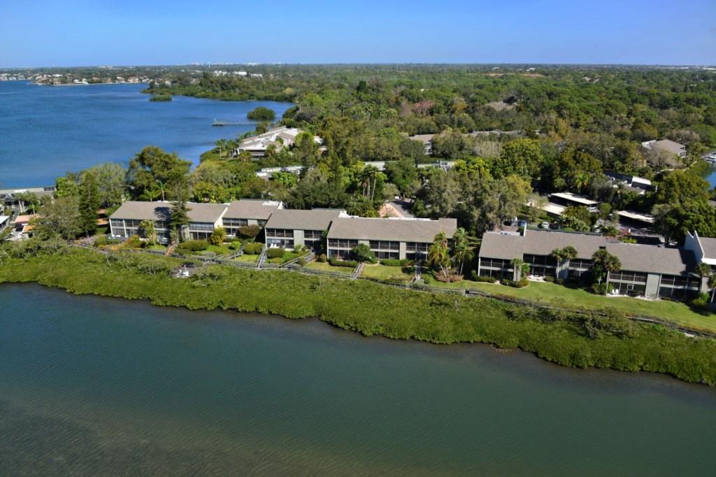 Ariel Pelican Cove Bayfront Condo Community Sarasota Florida.jpg