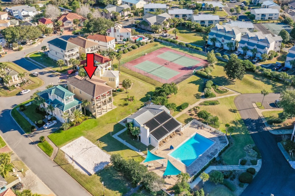 Close to community pool, tennis courts & volleyball court!