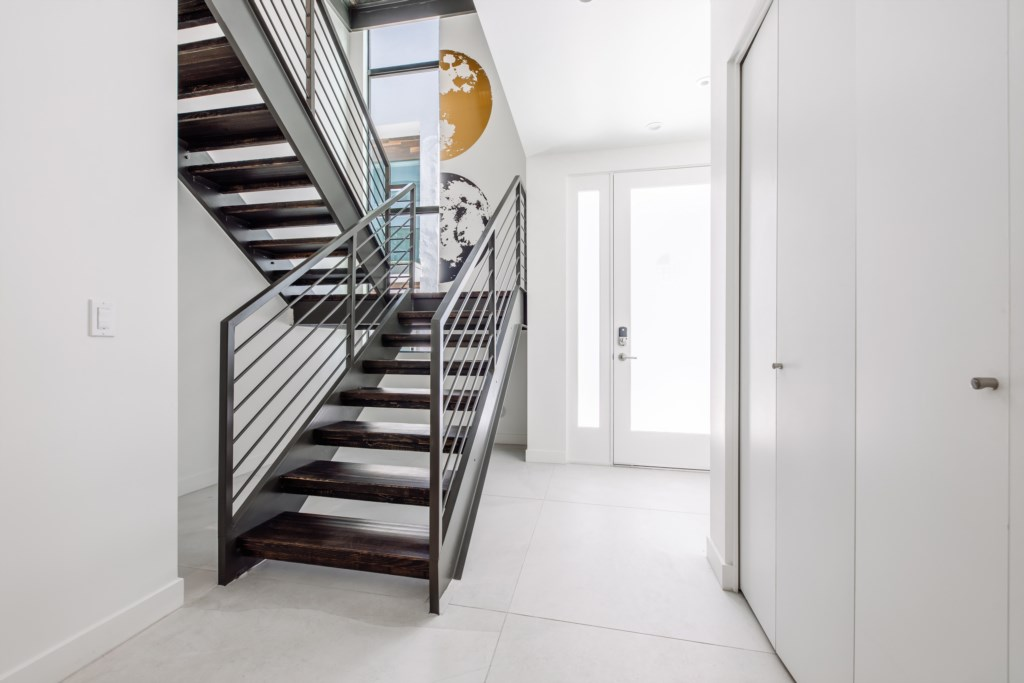 Beautiful entry way and staircase to second Level