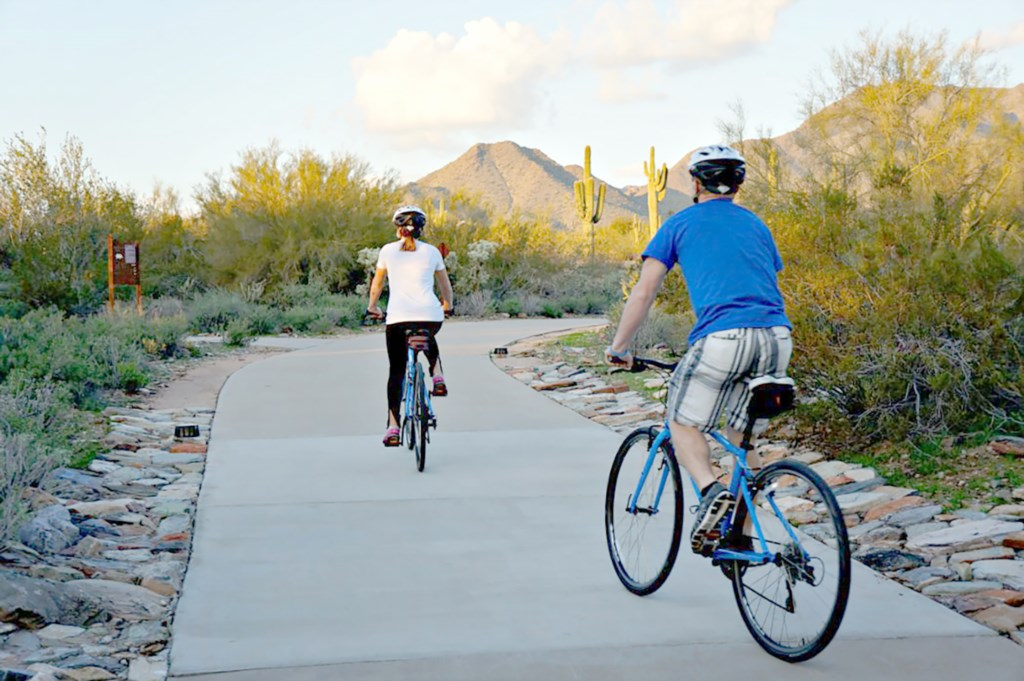 Hiking and Biking paths in every direction