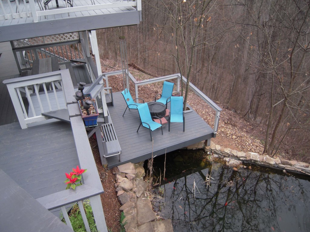 Enjoy the Lower Deck by the Pond