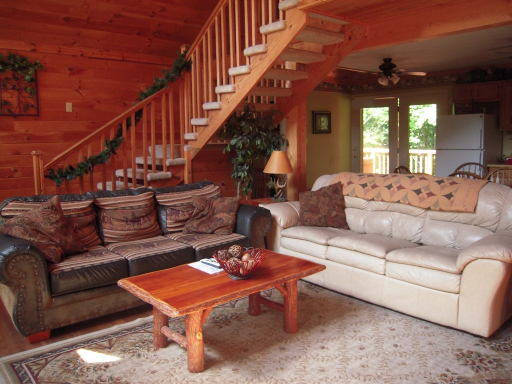 Charming Cabin Living Room