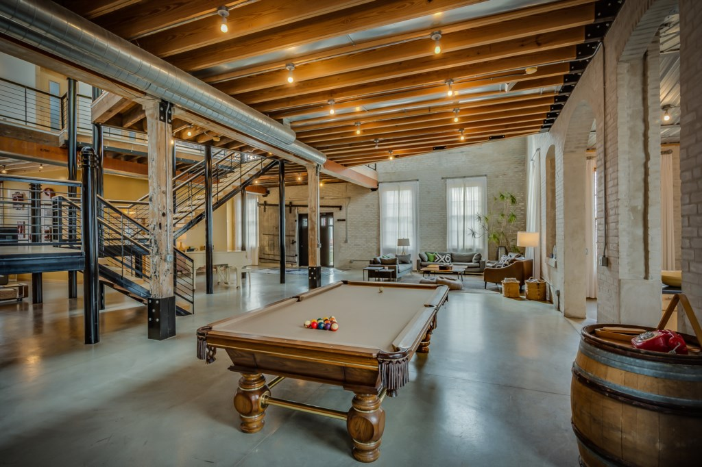 Private Pool Table & Piano