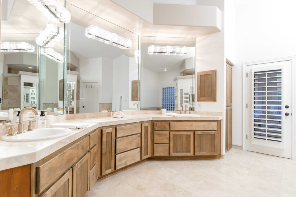 Master Bathroom with large double vanity