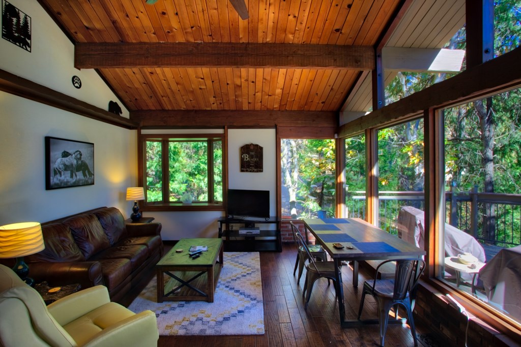 Stunning Forest Views from the Tall Windows