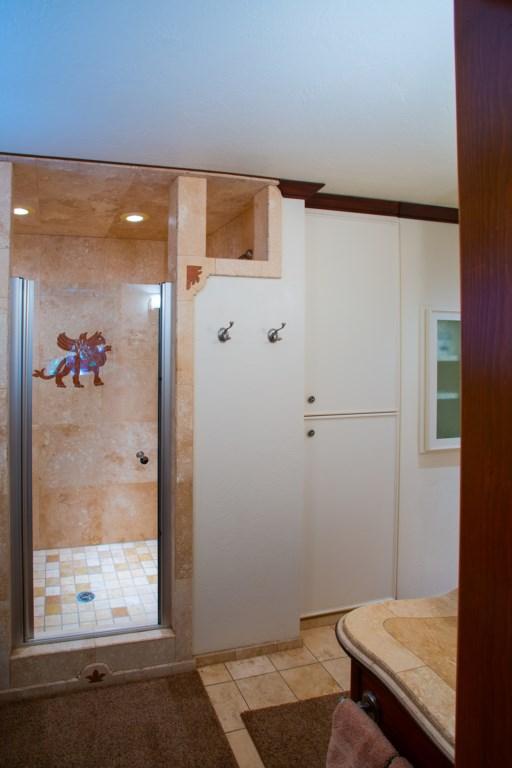 Stone Walk-In Shower