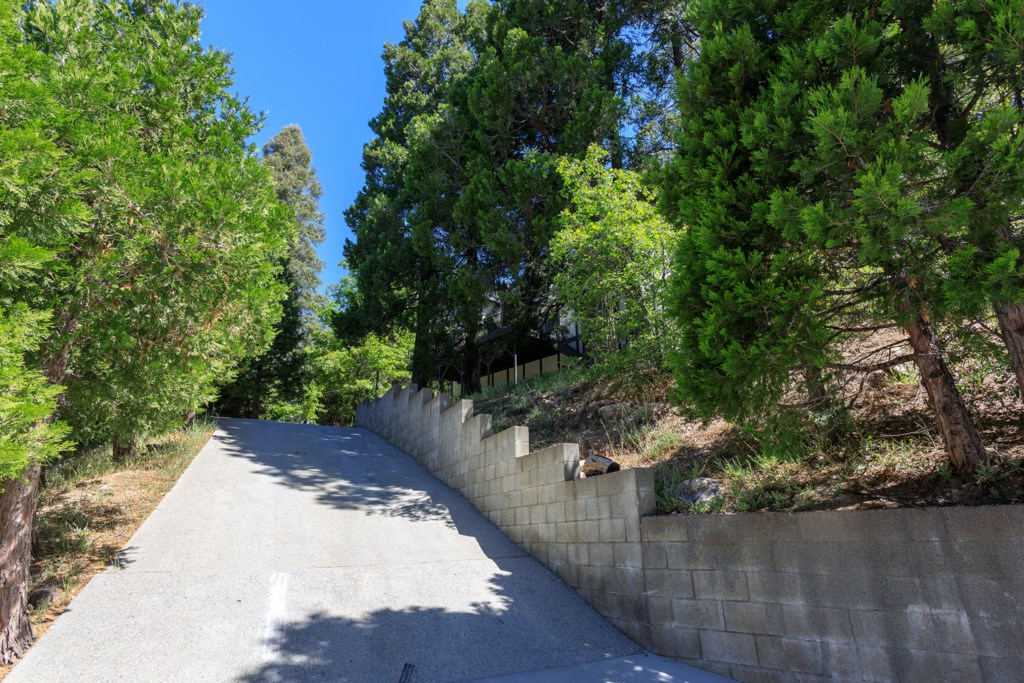 Up-sloping Driveway