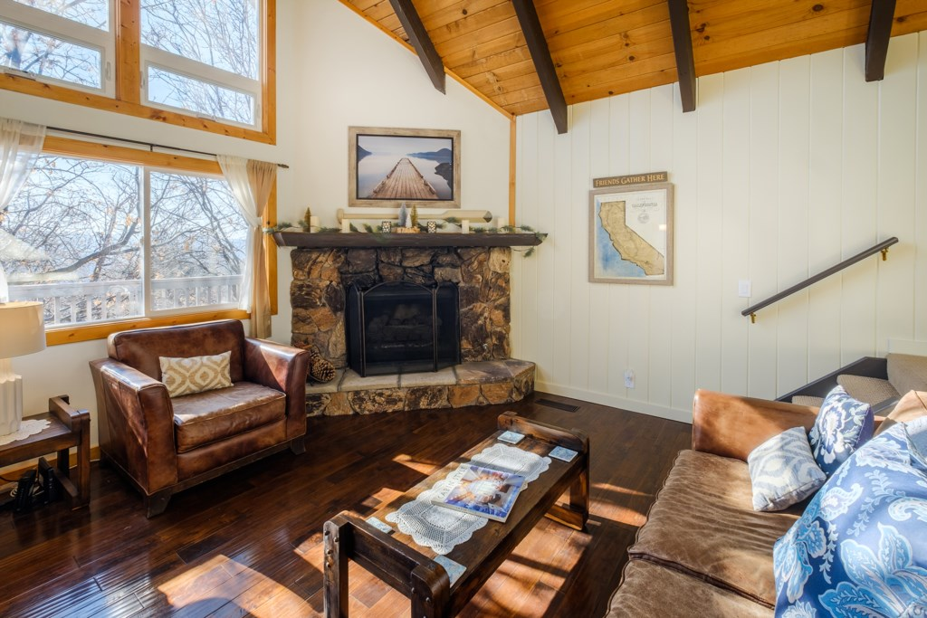 Unwind by the Fire with a Forest View
