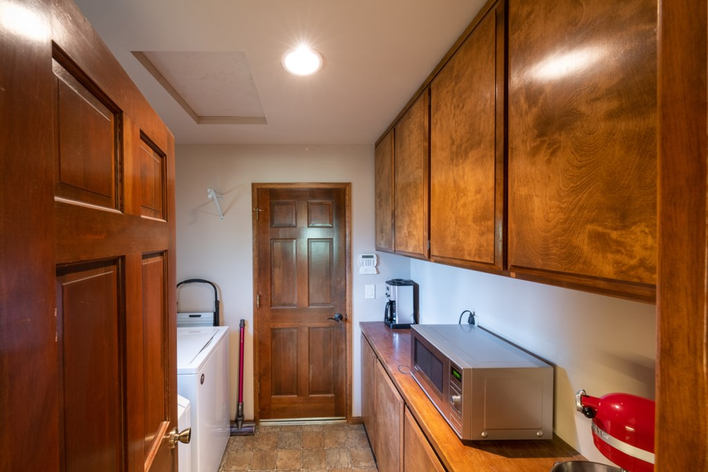 Washer and Dryer in Mud Room for Your Convenience