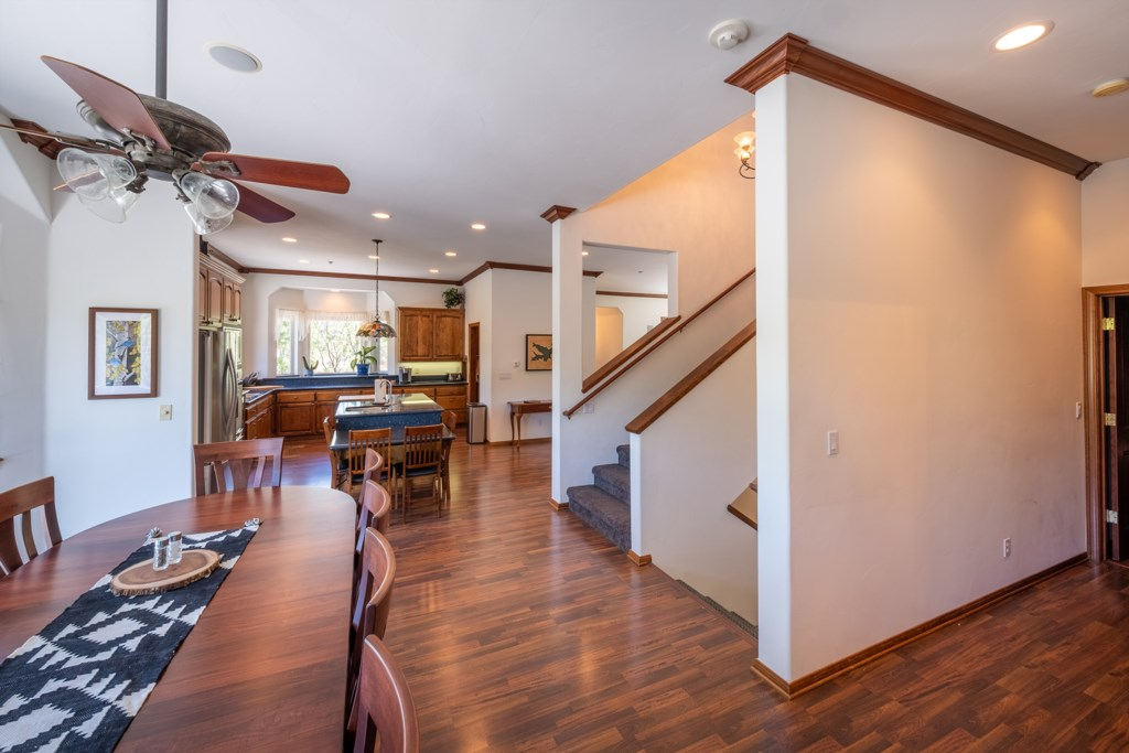 Open Floor Plan with Dining Table that Seats 10