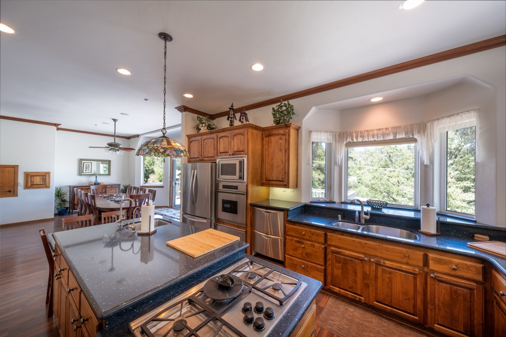 Spacious and Well-Stocked Kitchen