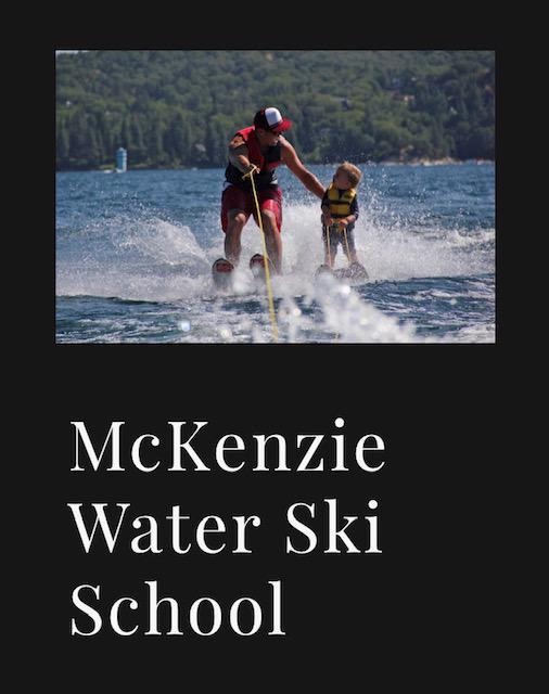 During warm seasons you can book water ski lessons with McKenzie Water Ski School or boat tours on Lake Arrowhead.