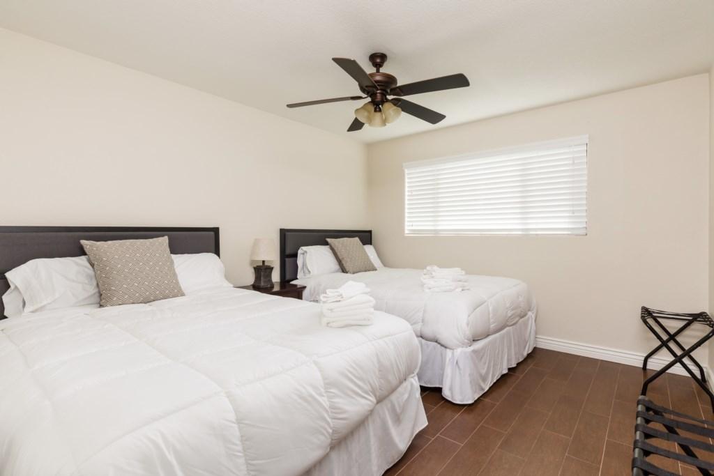 3rd Bedroom with 2 Queen Beds