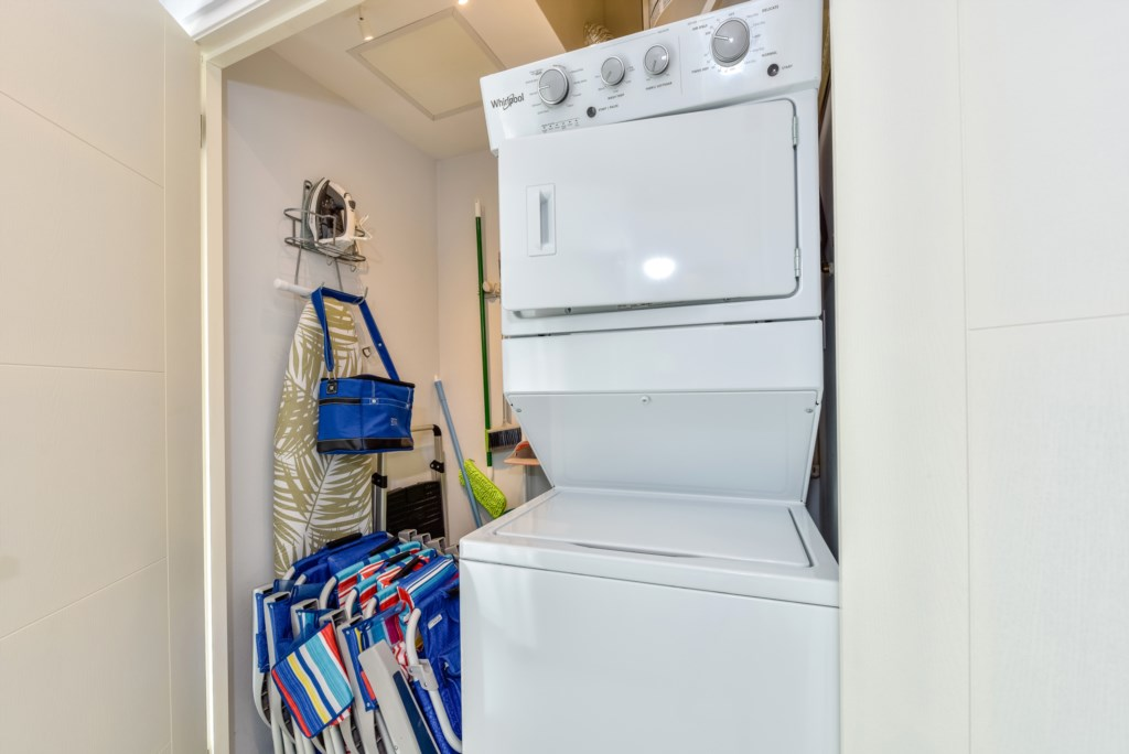 Washer, Dryer, Iron & Board and beach amenities for your convenience