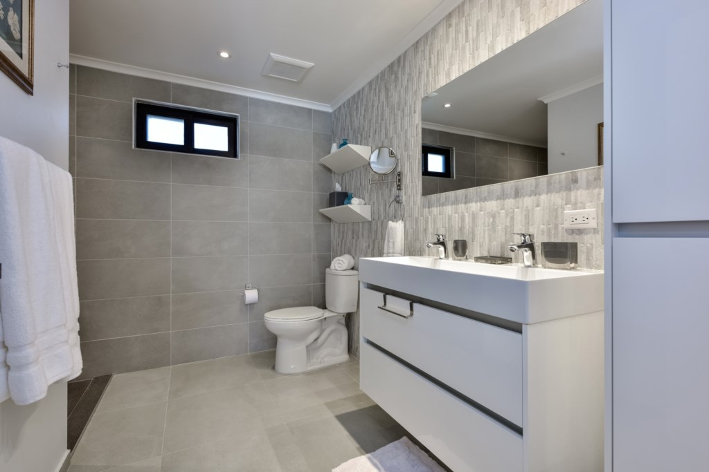 Two spacious bathrooms with hot shower