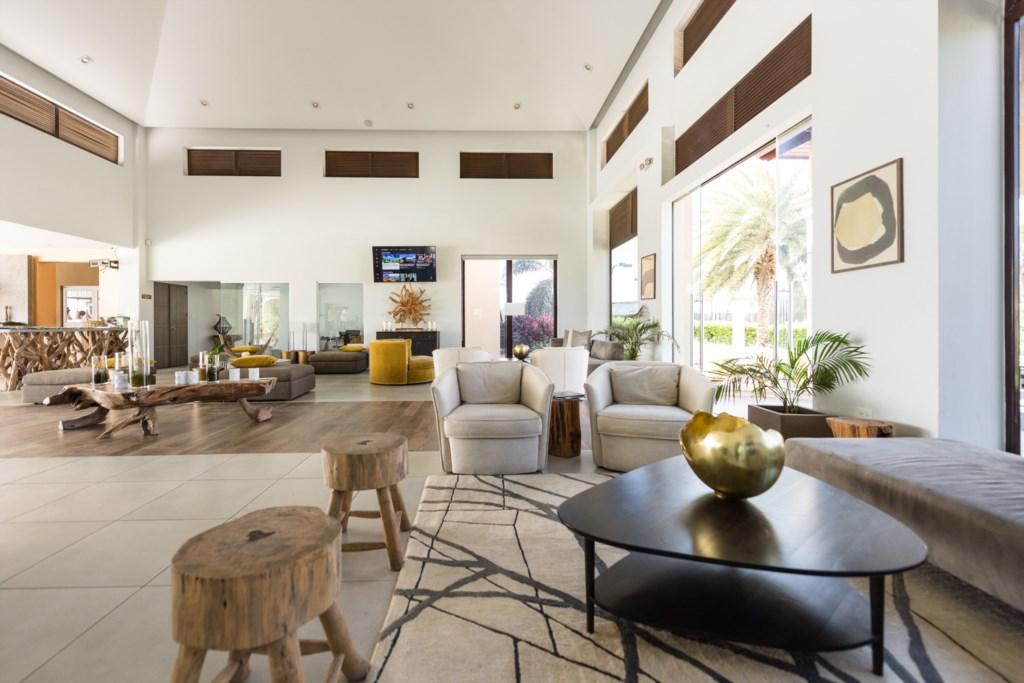 The luxurious lobby of Gold Coast