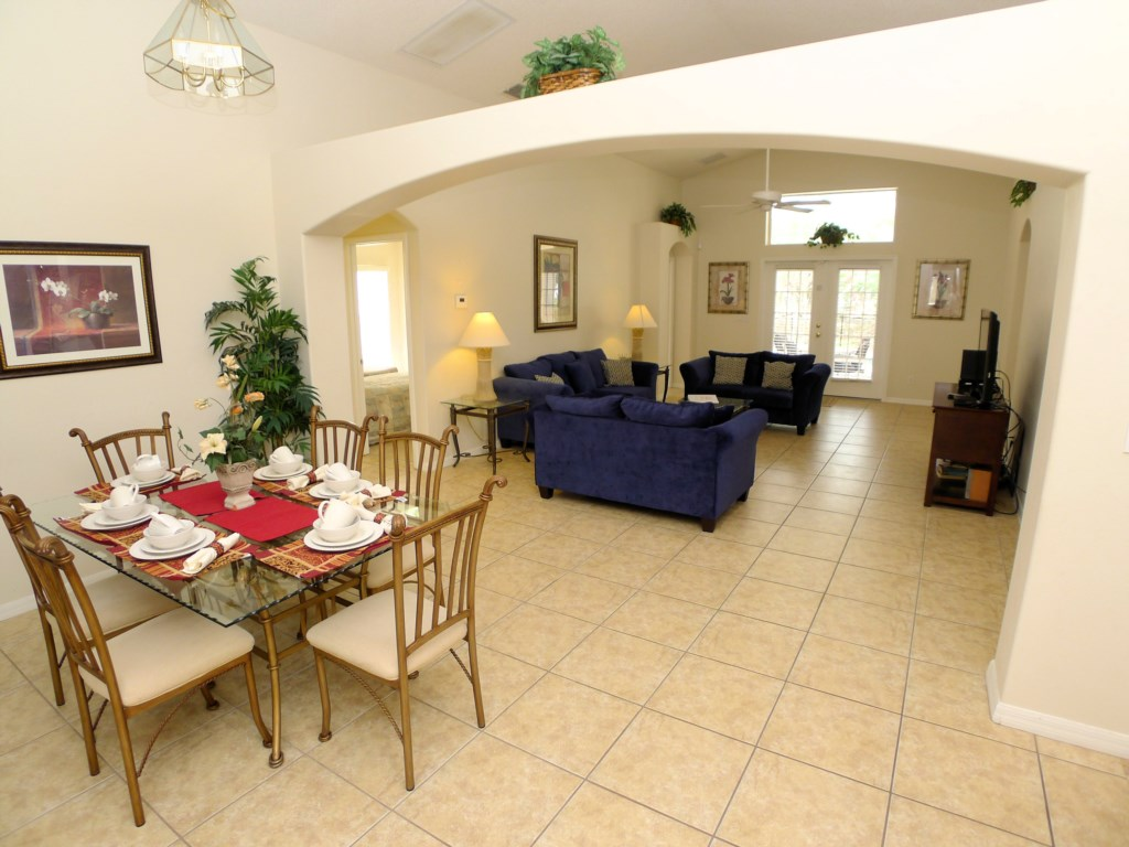 Open Floor Plan with Dining Area and Living Room