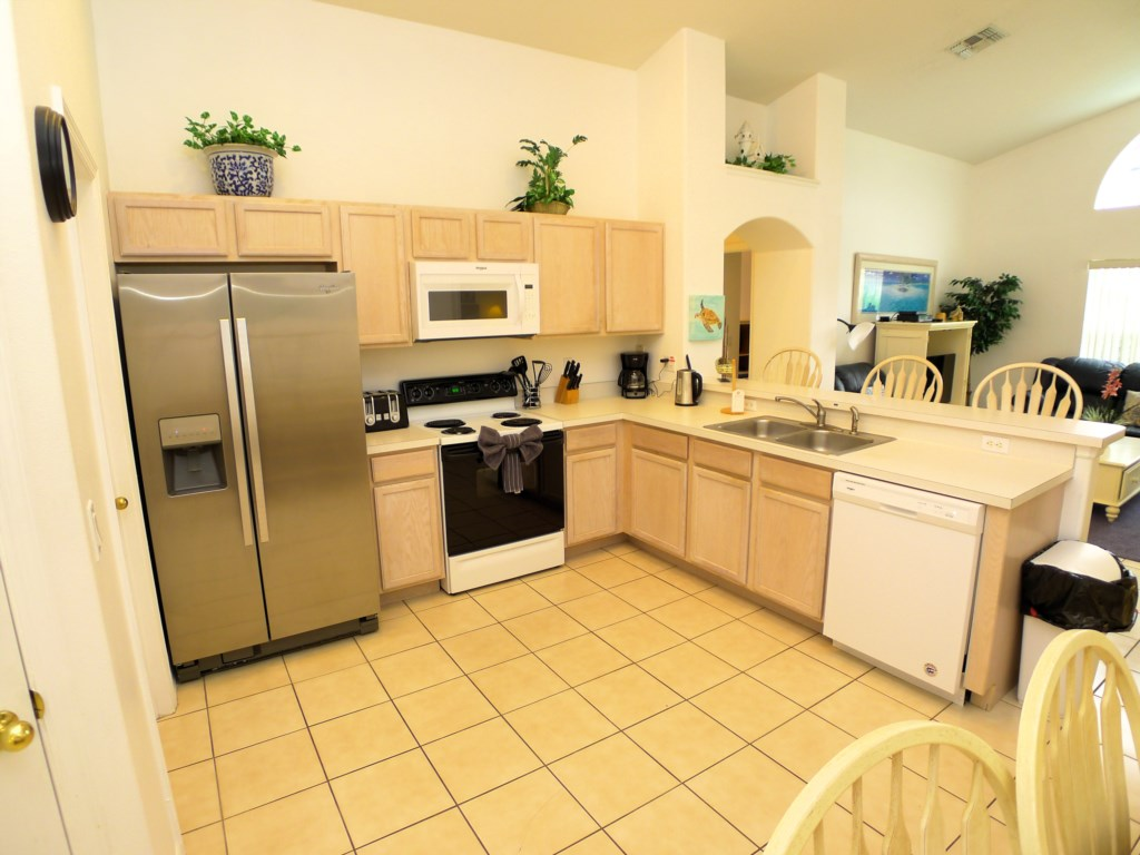 Kitchen Stocked with Amenities