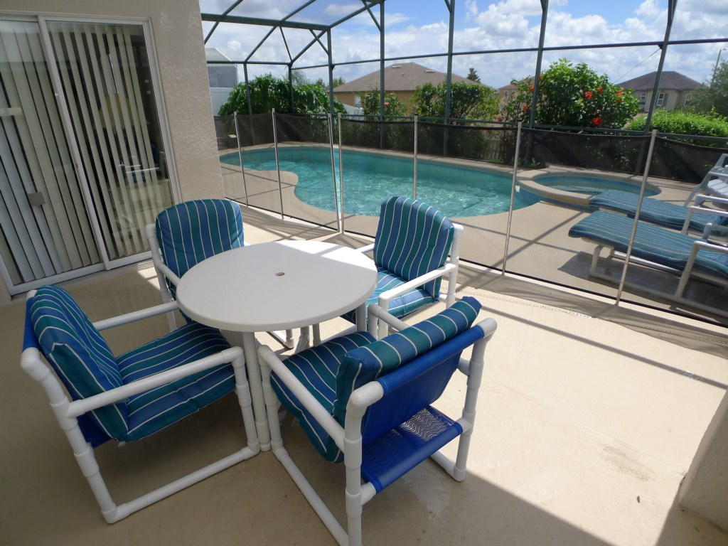 Enjoy the Patio, Pool, and Games!