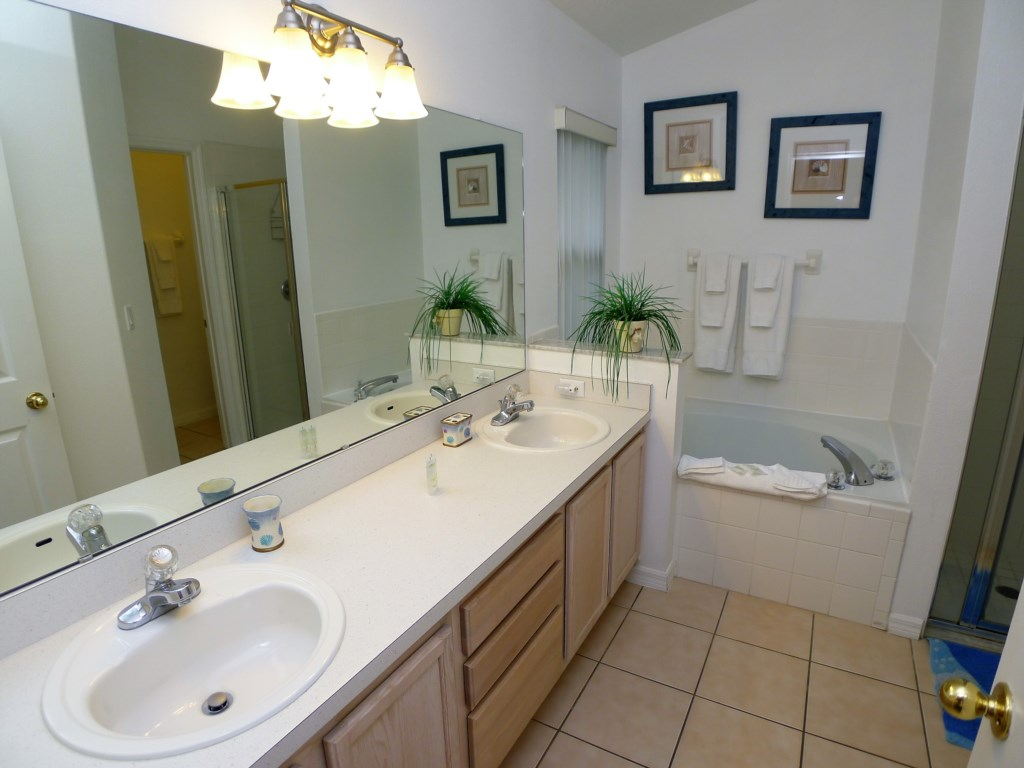 Master Bathroom with Dual Sink