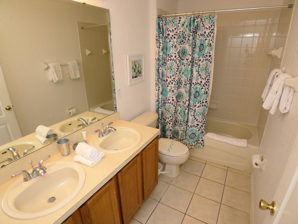 2 Bathrooms both with Dual Sinks