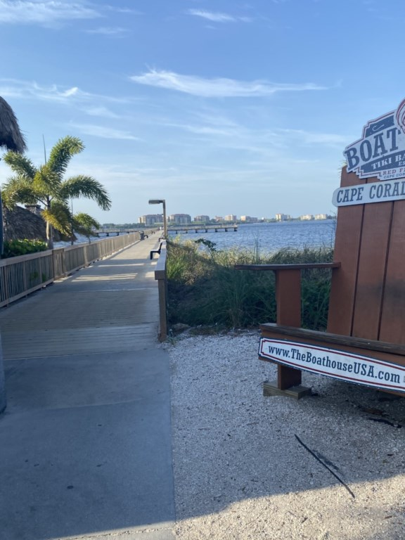 Fishing/walking pier at the Cape Coral Yacht Club