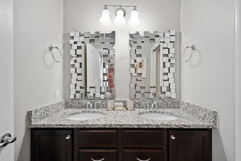 Unique double sink vanity
