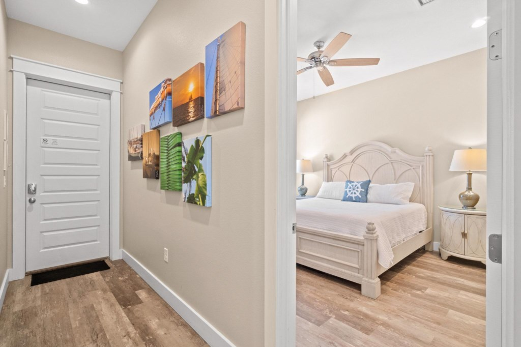 Entry and Level 1 King Bedroom