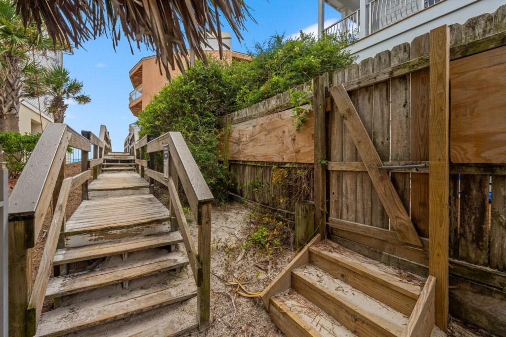 Beach Entrance Behind The House