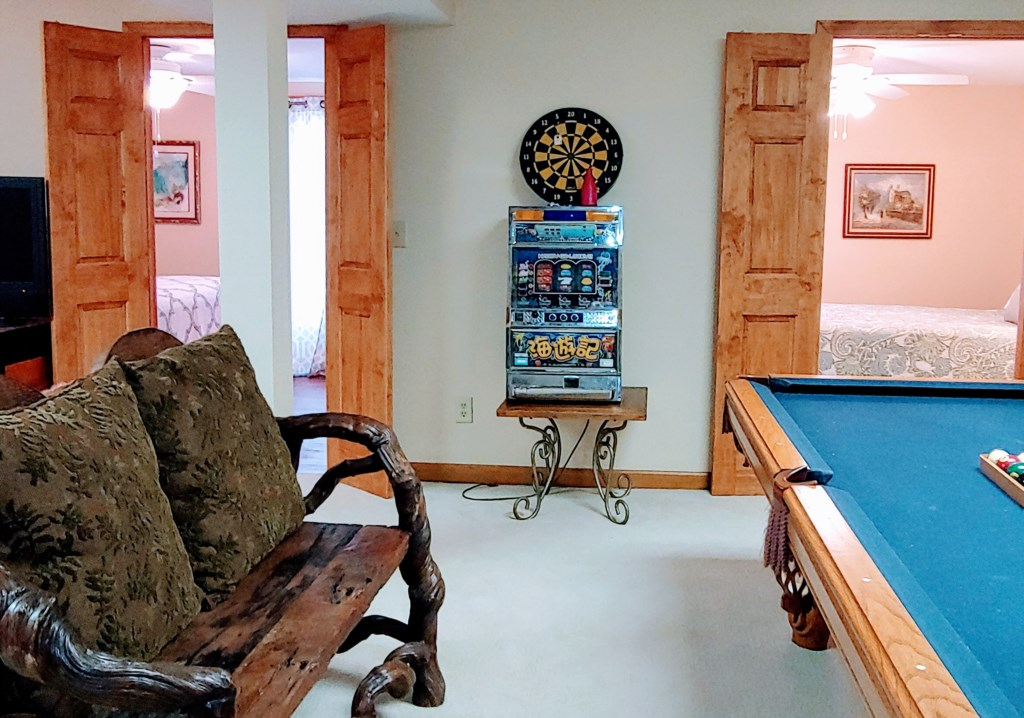 Downstairs Pool Table Family Area