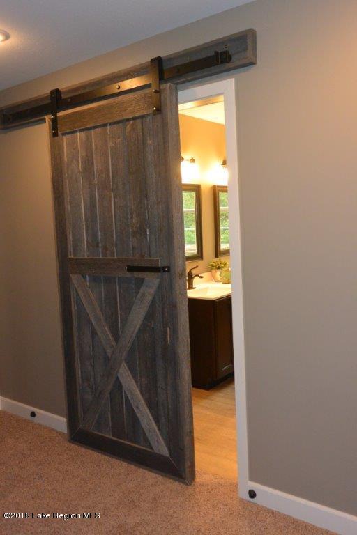 Custom built barn door.