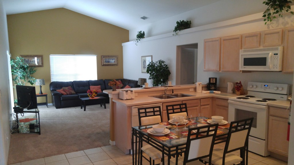 Kitchen/Dining Area/Living Room
