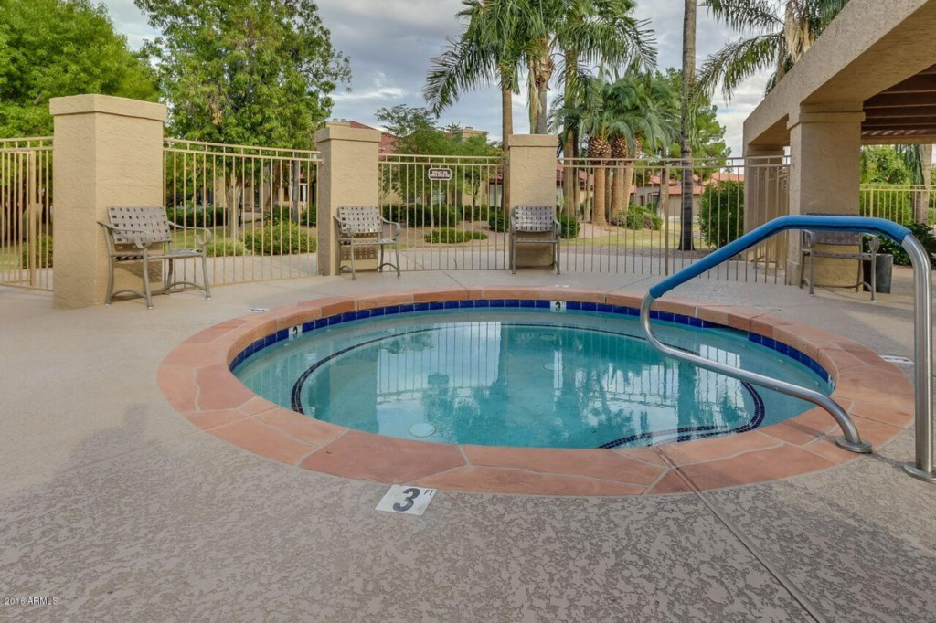 Heated community pool and hot tub