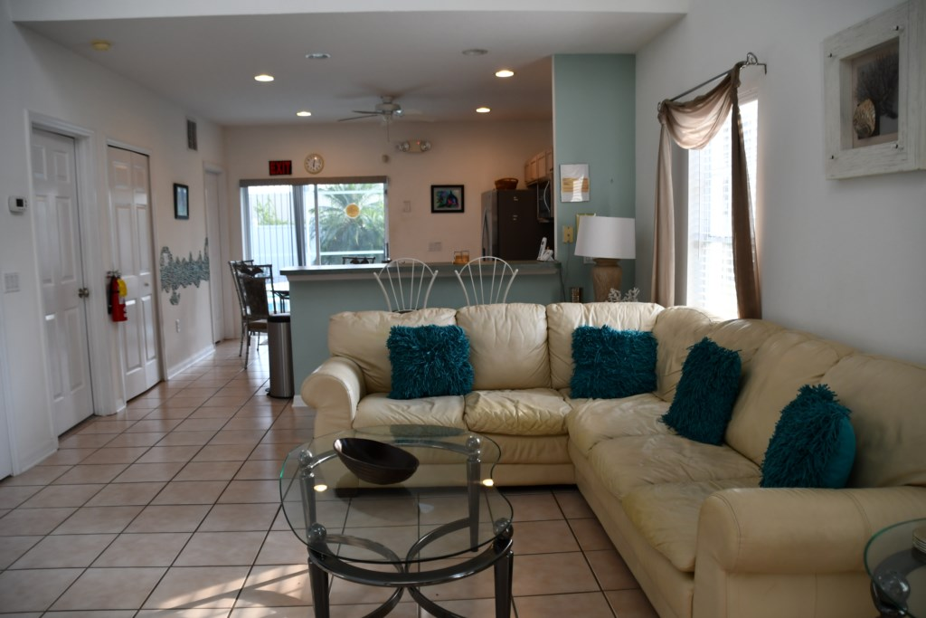 Large open concept Living ideal for large family gatherings