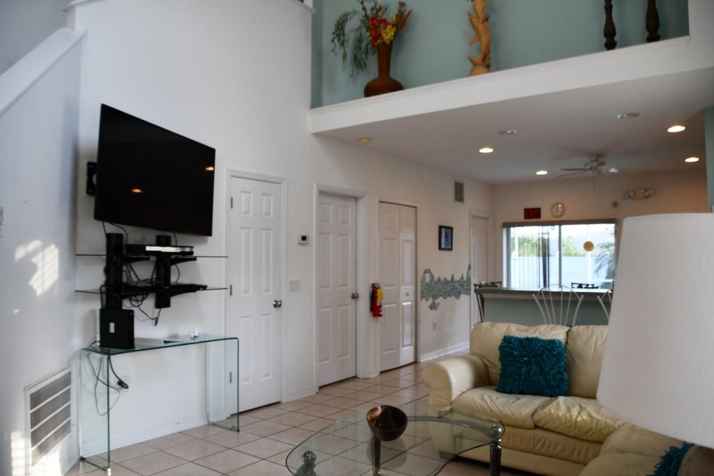 Spacious Family Room & TV Area