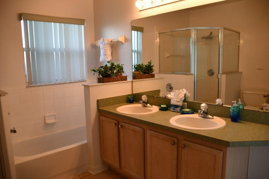 Master Bathroom double vanity sinks