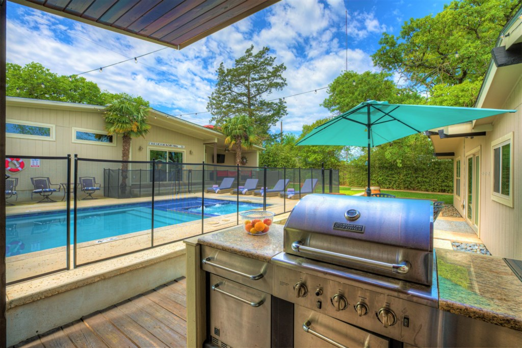 Pool Area Photo 3 of 11. Cook your meat of vegetables of preference with our propane gas grill.