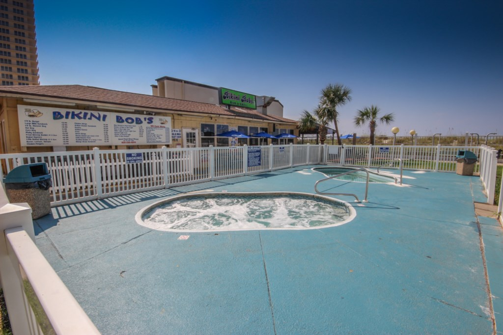 Bikini Bob's and our outdoor hot tubs!