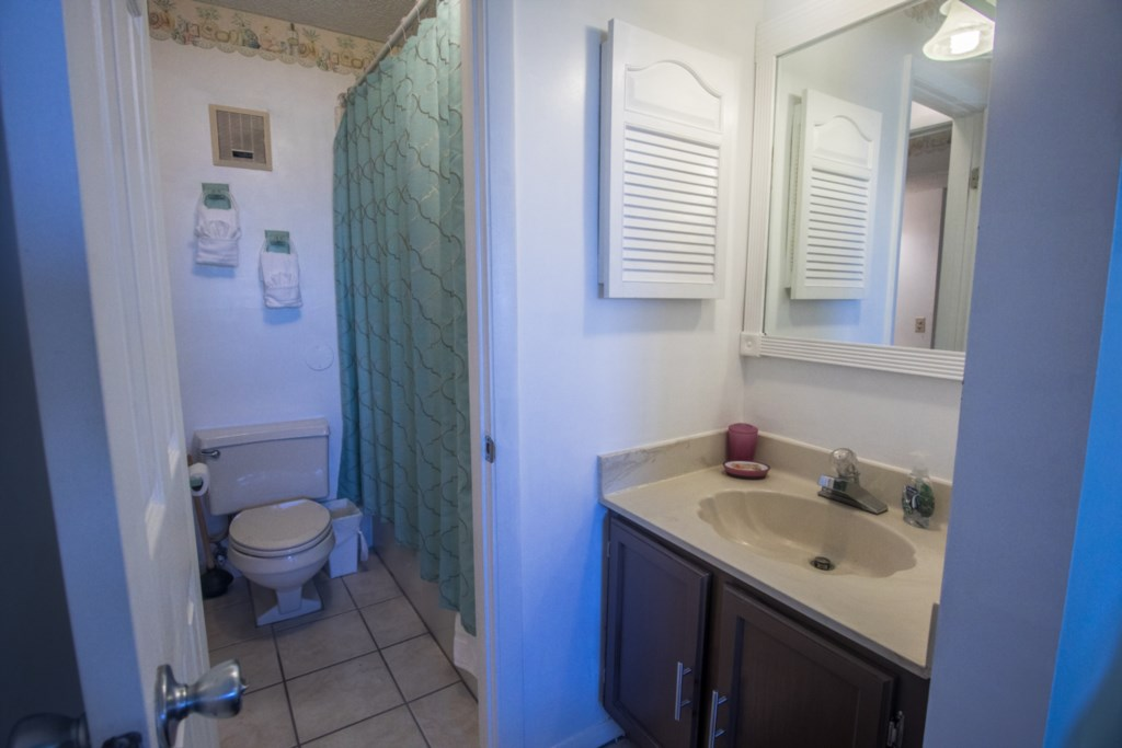 Bath with Tub and Separate Sink